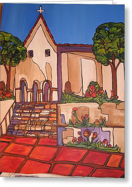 Mission San Luis Opispo Greeting Card by Michelle Gonzalez