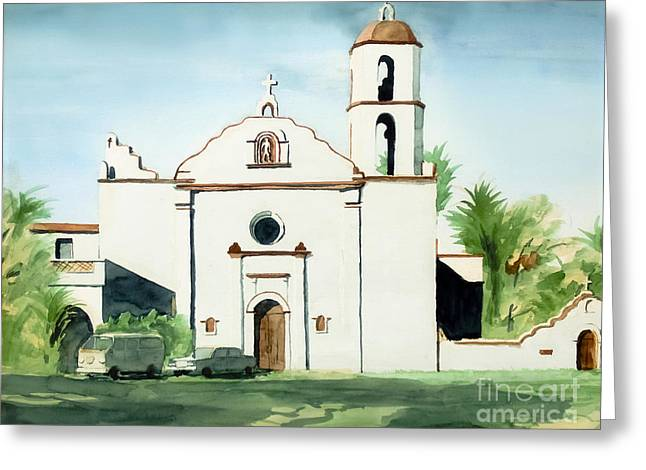 Mission San Luis Rey Colorful II Greeting Card by Kip DeVore