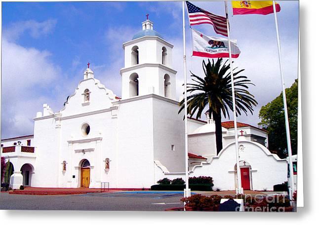 Mission San Luis Rey Greeting Card by Jerome Stumphauzer