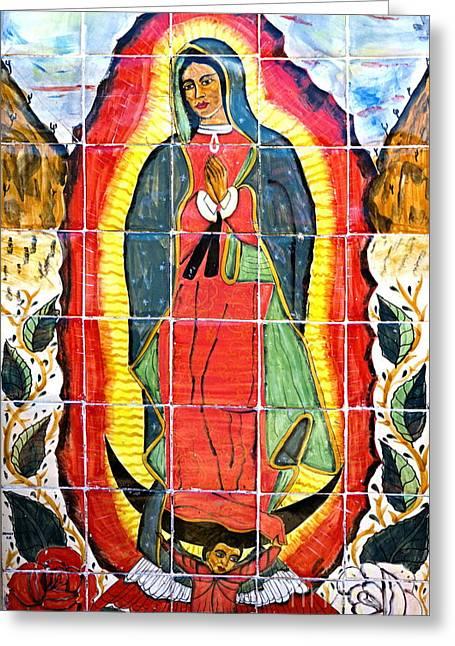 Mission San Miguel Arcangel Mural 1797 Greeting Card