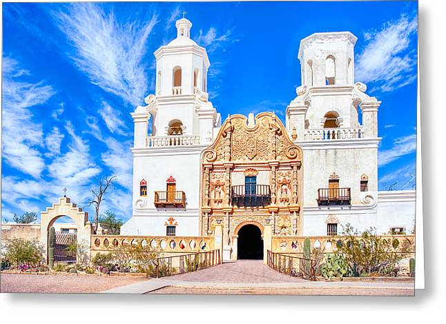 Mission San Xavier Del Bac Greeting Card by Dan McManus