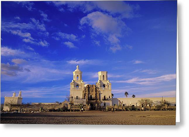 Mission San Xavier Del Bac, Tucson Greeting Card by Howie Garber