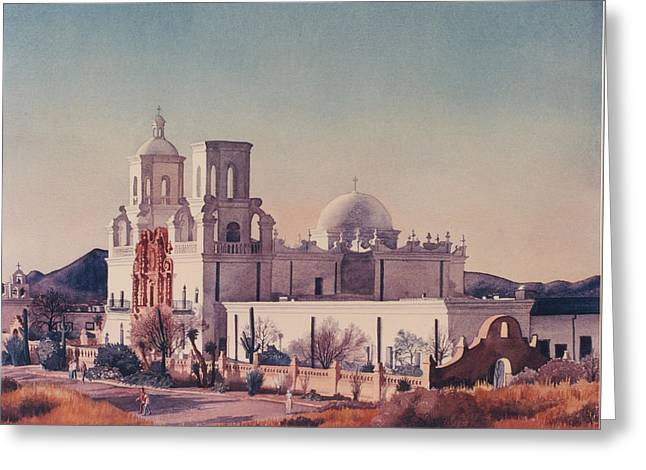 Mission San Xavier Del Bac Tucson Greeting Card