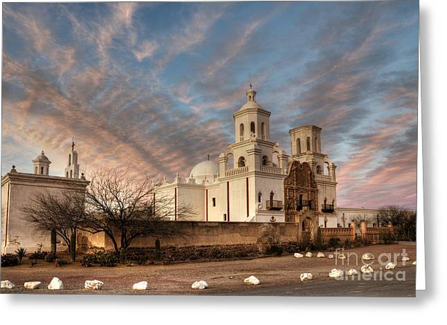 Mission San Xavier Del Bac Greeting Card by Vivian Christopher