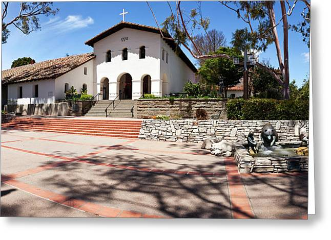 Mission Santa Barbara Church Greeting Card