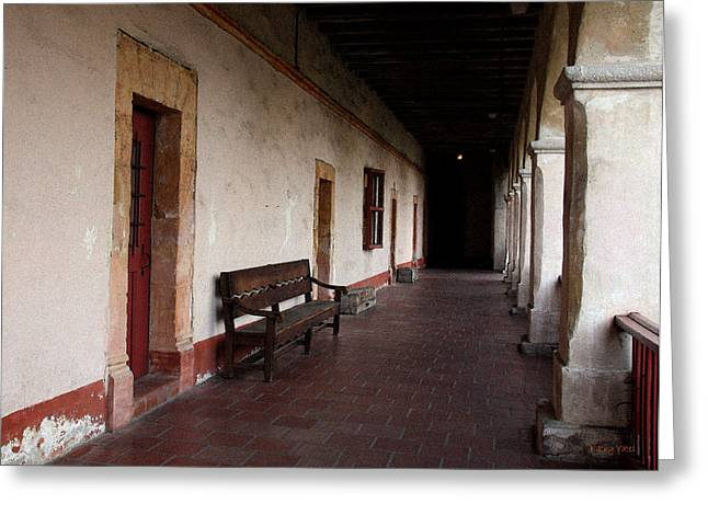 Mission Santa Barbara Loggia Greeting Card