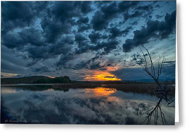 Mission Valley Sunset Greeting Card