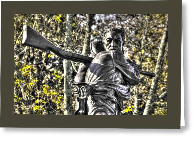 Mississippi At Gettysburg - Desperate Hand-to-hand Fighting No. 4 Greeting Card by Michael Mazaika