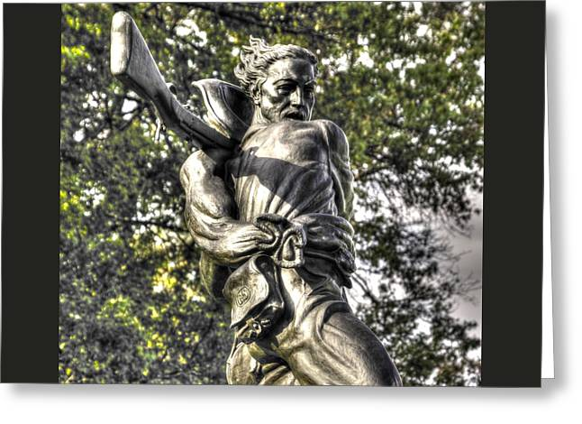 Mississippi At Gettysburg - The Rage Of Battle No. 2 Greeting Card by Michael Mazaika