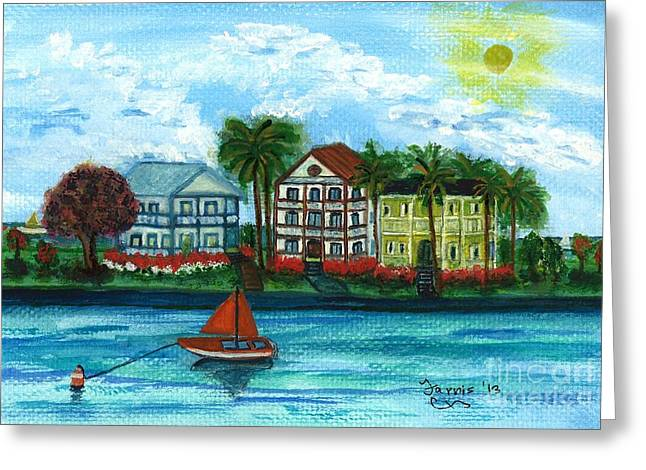 Mississippi Coast Greeting Card by Larry Farris