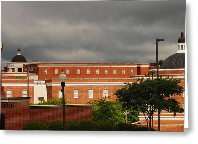 Mississippi College Clock Greeting Card by Donnell Carr