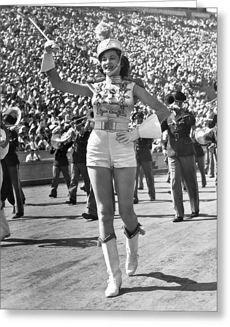 Mississippi Majorette Struts Greeting Card by Underwood Archives