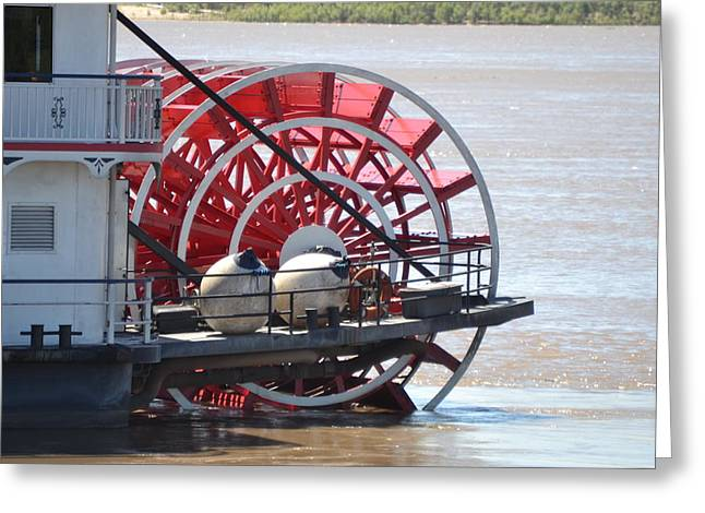 Mississippi Queen Ferry Wheel Greeting Card