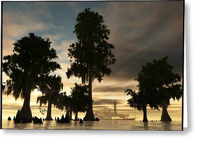 Mississippi Queen... Greeting Card by Tim Fillingim