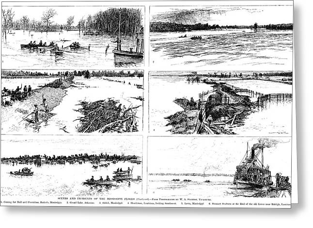Mississippi River, 1890 Greeting Card by Granger