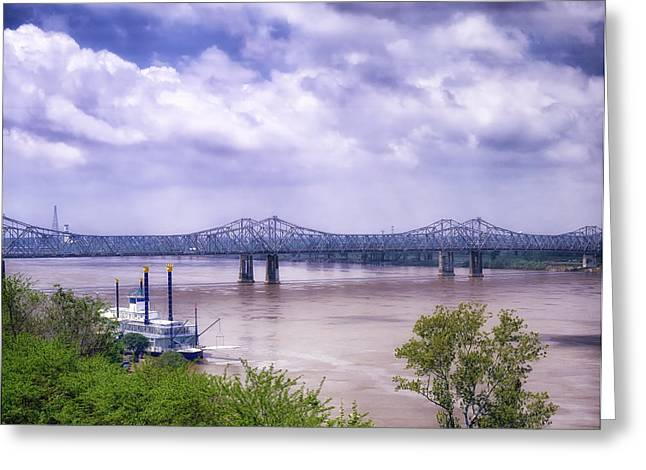 Mississippi River At Natchez Greeting Card
