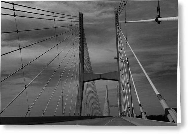 Mississippi River Bridge Greeting Card by Dan Sproul