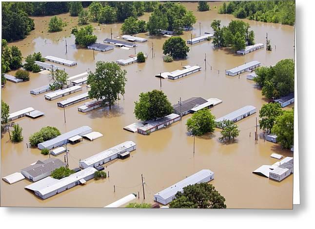 Mississippi River Floods, 2011 Greeting Card