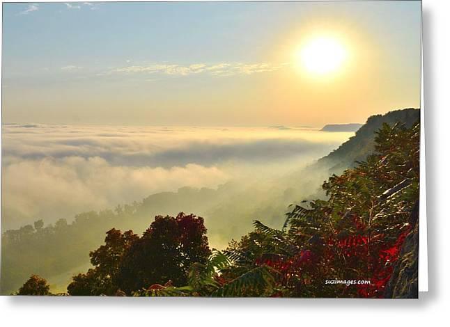 Mississippi River Fog Greeting Card