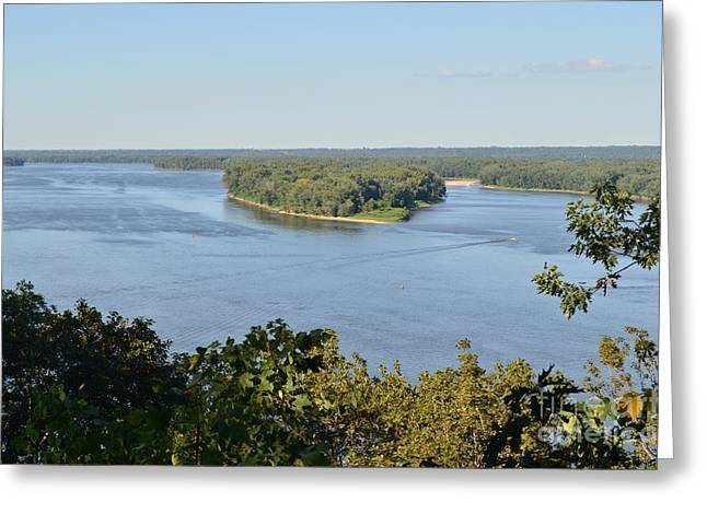 Mississippi River Overlook Greeting Card by Luther Fine Art