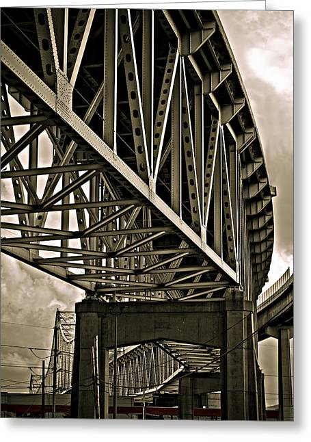 Mississippi Truss In New Orleans Greeting Card