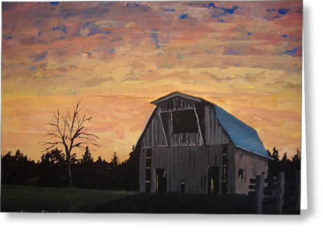Greeting Card featuring the painting Missouri Barn by Norm Starks