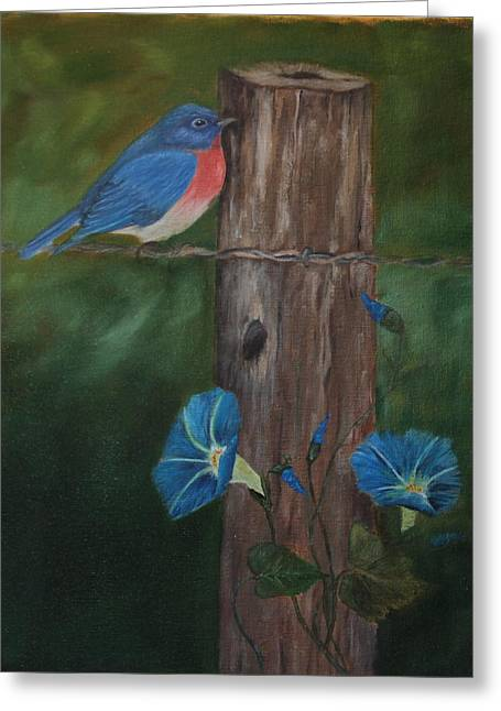 Missouri Blue Bird II Greeting Card