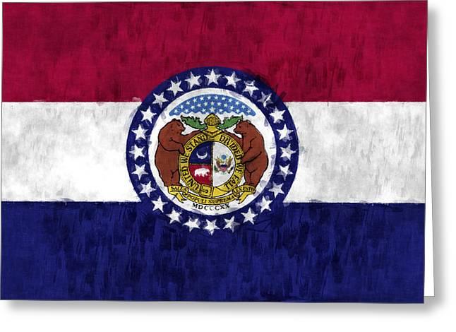 Missouri Flag Greeting Card