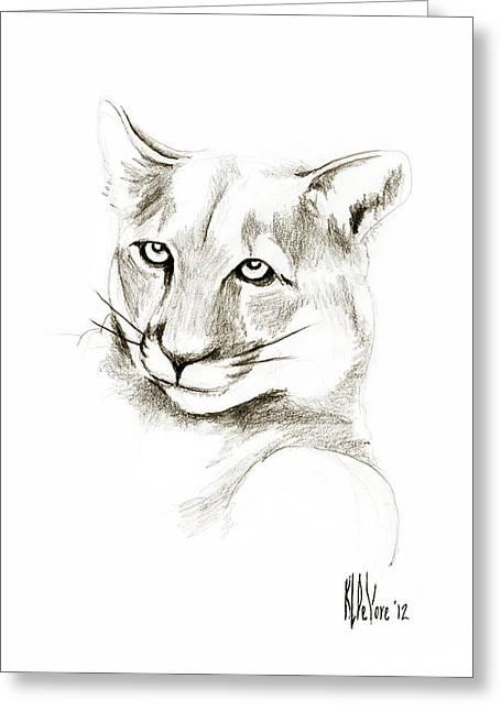 Missouri Mountain Lion II Greeting Card by Kip DeVore