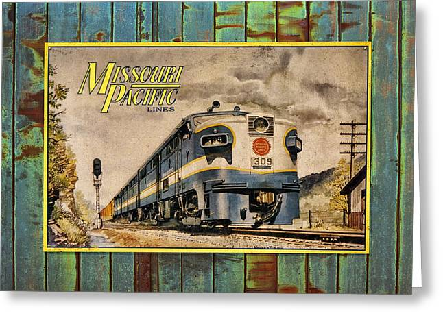 Missouri Pacific Lines Sign Engine 309 Dsc02854 Greeting Card