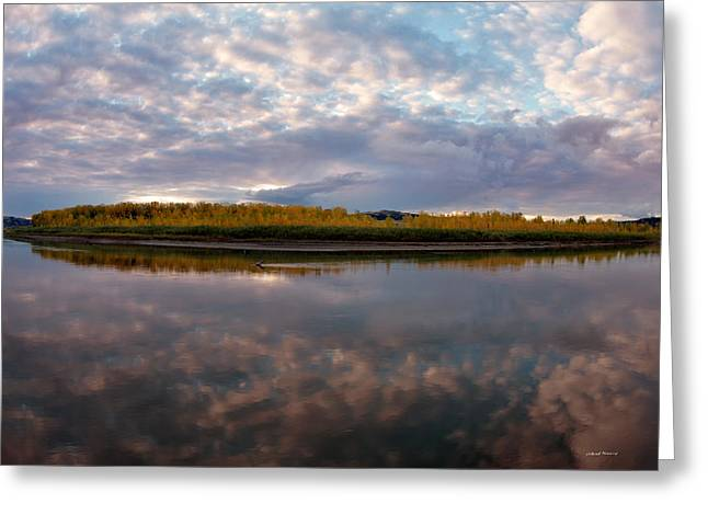 Missouri Reflections Greeting Card by Leland D Howard