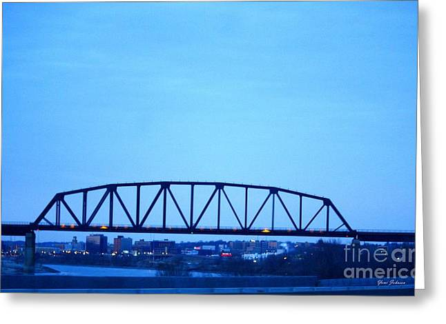 Missouri River At Dusk Greeting Card