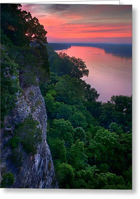 Missouri River Bluffs Greeting Card