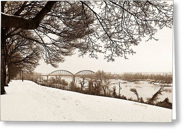 Missouri River From Kansas Greeting Card by Chris Berry