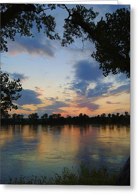 Missouri River Glow Greeting Card