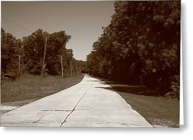 Missouri Route 66 2012 Sepia. Greeting Card by Frank Romeo