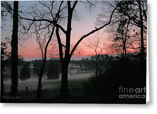 Mist At Sunset Greeting Card by Jinx Farmer