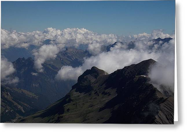 Mist From The Schilthorn Greeting Card