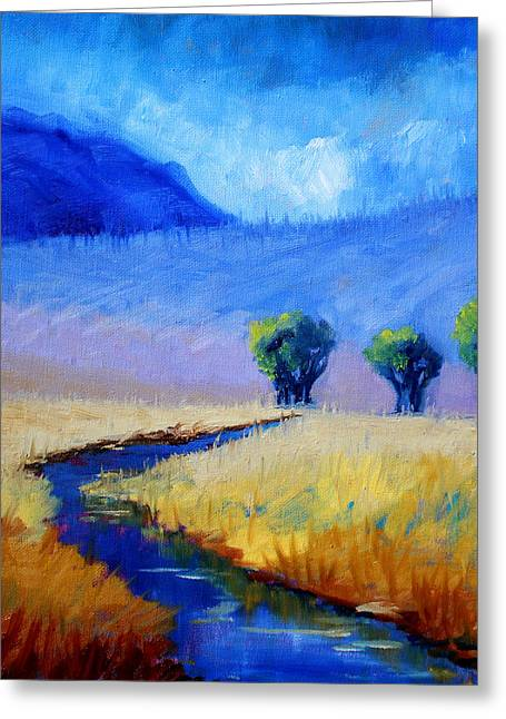 Mist In The Mountains Greeting Card by Nancy Merkle