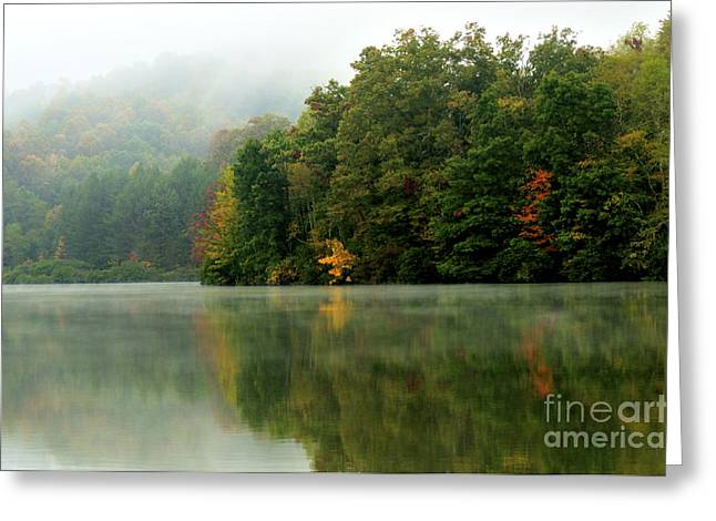 Mist On The  Lake Greeting Card