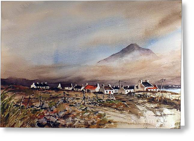 Mist Over Dugort Achill Island Mayo Greeting Card