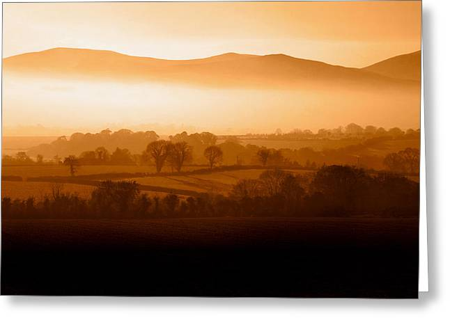 Mist Shrouded Knockmealdown Mountains Greeting Card
