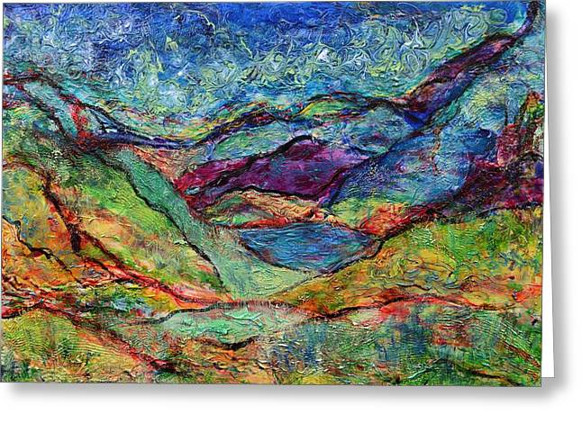 Misted Mountains Greeting Card by Regina Valluzzi