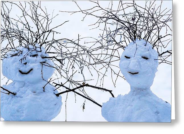 Mister And Missis Snowball - Featured 3 Greeting Card