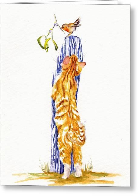 Mistletoe Greeting Card