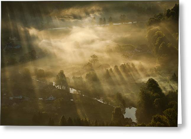Mist,light And Silence. Greeting Card