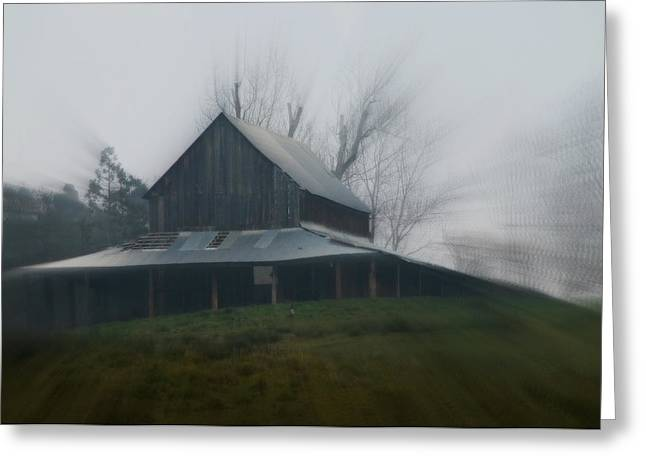 Misty Barn Greeting Card