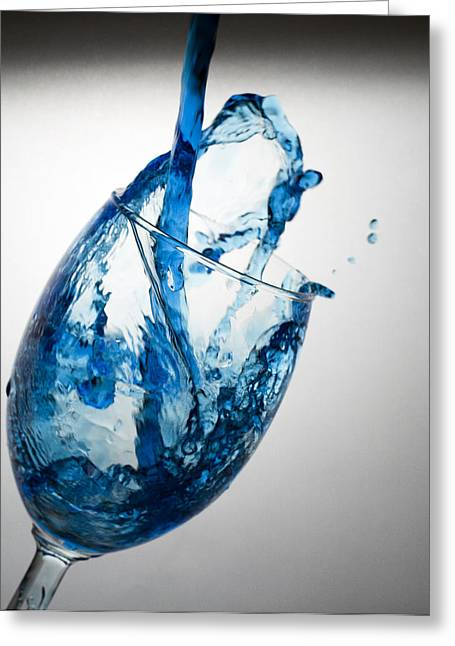 Misty Blue Greeting Card by John Hoey