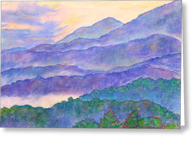 Misty Blue Ridge Greeting Card by Kendall Kessler