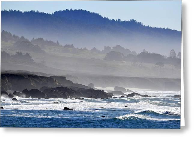 Misty Coast Greeting Card
